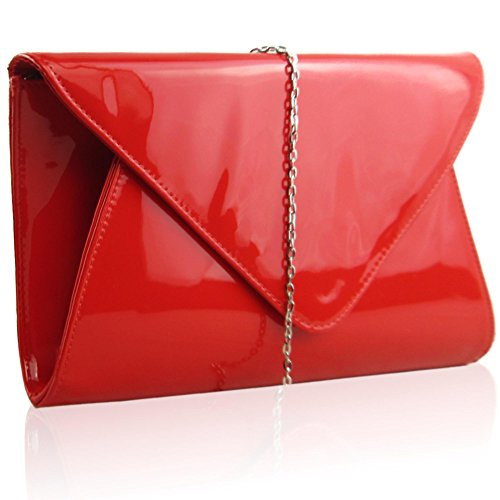 Red Clutch Bags: Amazon.co.uk