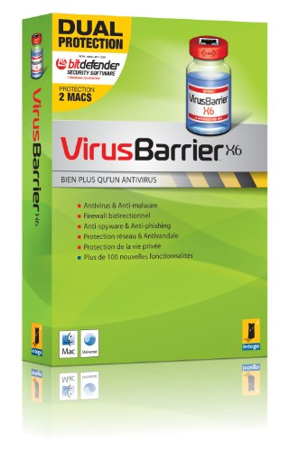 VirusBarrier X6, Education Dual Protection (2 postes - 1 an)