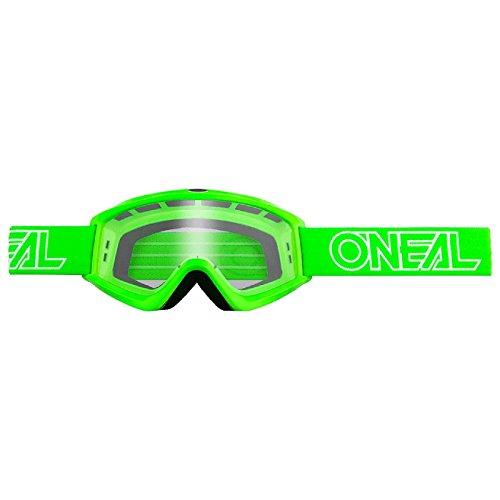 O'Neal B-Zero Goggle Moto Cross MX Brille Downhill DH Enduro Motorrad, 6030-11, Farbe Grün