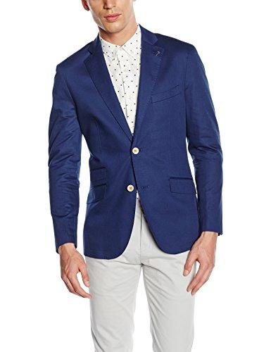 Cortefiel Coord. Tailored Alg/Lino, Blazer Uomo Blu (MARINE BLUE)