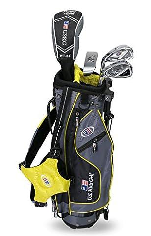 US Kids 2017Golf Ultra Light, 4Club Stand Golf Set mit Bag (106,7cm Höhe), Kinder, grau/gelb