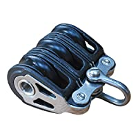 Holt Triple Pulley Block, Sailing/Marine Use, With Ball Bearings, Compact Triple Block, 316 Stainless Steel 2