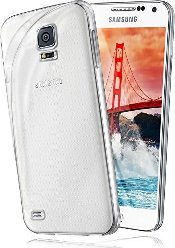 ase [Vollständig Transparent] passend für Samsung Galaxy S5 Mini | rutschfest und extrem dünn - Fast unsichtbar, Klar ()