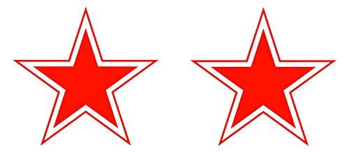 Preisvergleich Produktbild 2 x Sticker Selbstklebend Luftfahrt Militärische Air Force Flugzeug Faltoptik UdSSR Russland