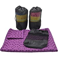 VORCOOL Toalla de Yoga Toalla de Yoga Toalla de Yoga Antideslizante Suave Toalla de Deporte Manta de Pilates con Bolsa Gratis (Púrpura)