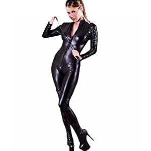 Amour Combinaison zippée style gothique punk en PU imitation cuir