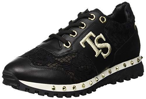 Twin Set CA8PAE, Sneaker Donna, Nero, 40 EU