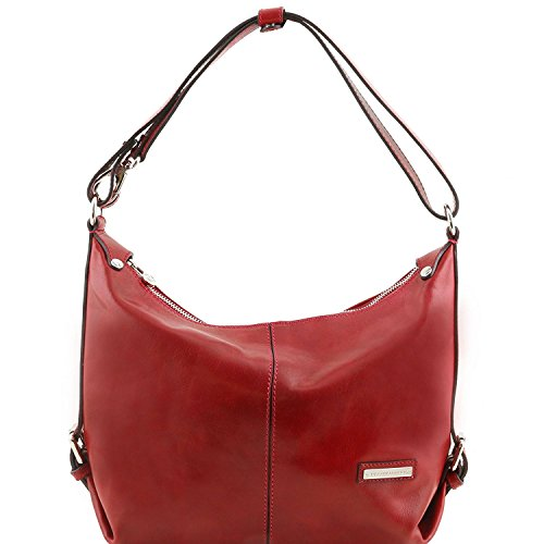 Tuscany Leather Sabrina - Beuteltasche aus Kalbsleder - TL141479 (Rot) Rot