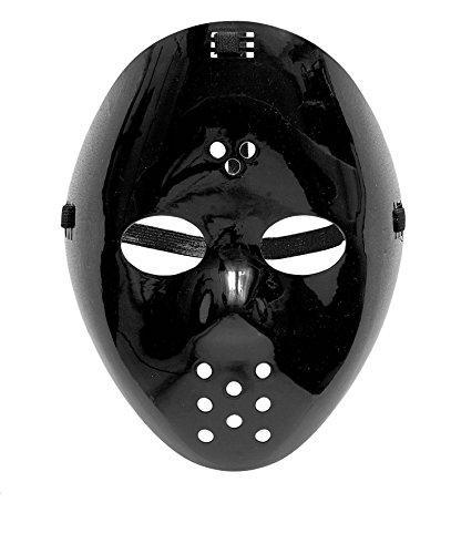 MASKE - EISHOCKEY - schwarz (Eishockey Halloween Kostüm)