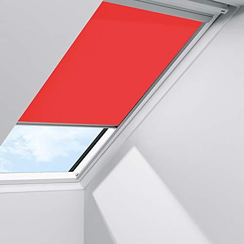 Orignal VELUX Sichtschutzrollo RFL MK06 4159S / Bedienart : Manuell / Farbe : Uni Rot / Fenstergröße : MK06 / Fenstertypen : GGU, GGL, GPU, GPL, GTU, GTL, GXU, GXL _23592