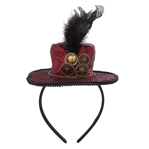 HVNFGJ Gothic Hut Stirnband, Halloween Party Stirnband, Maskerade Modeschmuck, 1 Stück