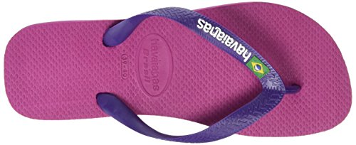Havaianas Brasil Logo, Infradito Unisex – Adulto Multicolore (Raspberry Rose/New Purple 9491)