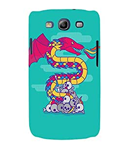 PrintVisa Modern Art Dragon And Skull 3D Hard Polycarbonate Designer Back Case Cover for Samsung Galaxy S3 Neo