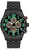 Astroavia Herren-Armbanduhr Chronograph Quarz mit Edelstahl Armband V8S
