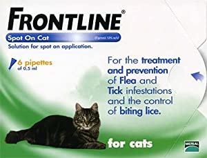 Frontline Spot On Flea Drops - Cats Kittens 6pk from Frontline