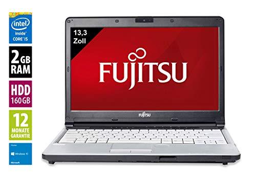 Fujitsu Lifebook S761   Notebook / Laptop   13,3 Zoll (1366x768)   Intel Core i5-2520M @ 2,5GHz   2GB DDR3 RAM   160GB HDD   DVD-Laufwerk   Windows 10 Home (Zertifiziert und Generalüberholt)