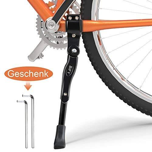 BIFY Fahrradständer für 24-27 Zoll,Fahrradrahmen aus Aluminiumlegierung, Rutschfester Gummiständer, höhenverstellbar