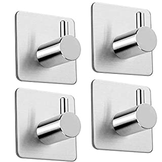 Self Adhesive Hooks for Kitchen Bathrooms,Pack of 4