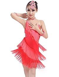 Trajes de Vestir de Baile de Tango Vestido de Baile para niñas Rendimiento  de Flecos Traje 9520d7e3062f9