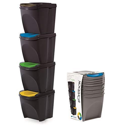 Stolmet Cubo Basura plástico Tapa abatible 20 litros
