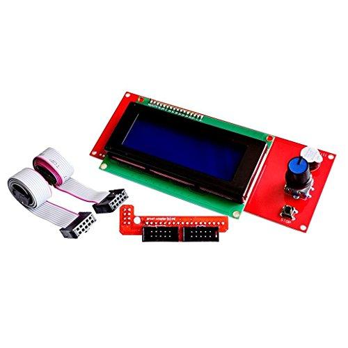 Redrex 2004 LCD Smart Display Controller Modul mit Adapter für 3D Drucker Controller RAMPS 1.4 Arduino Mega Pololu Schild