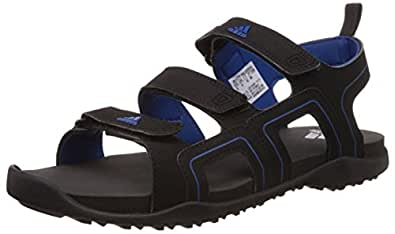 adidas Men's Ediffin Black and Blue Athletic & Outdoor Sandals - 11 UK
