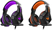 Cosmic Byte H11 Gaming Headset with Microphone (Black/Purple)&Cosmic Byte H11 Gaming Headset with Micropho