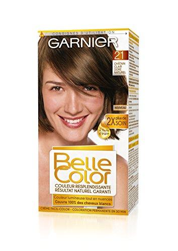 Garnier - Belle Color - Coloration permanente Châtain - 21 Châtain clair doré naturel Lot de 2