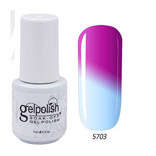 CLHVUZ - Esmalte de uñas en gel que cambia de color con...