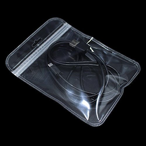 Klar Zip Lock Plastiktüte mit Häng Loch Transparent Runde Ecke Ploytaschen für Lebensmittel Elektronik Zubehörteil Wiederverwendung Reißverschluss Heißsiegel Beutel (12.5x17cm (4.9