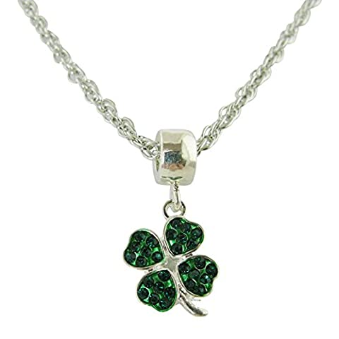 Rosemarie Kollektionen Irish 4Leaf Clover Charm Anhänger Halskette Geschenk