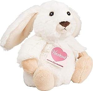 Teddy Hermann 938569Poppi, diseño de Conejo de Peluche, Color Blanco, 15cm