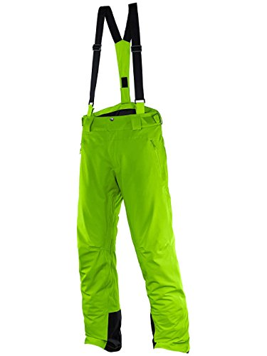 Salomon Iceglory M - Pantalone da sci da Uomo, colore Verde, taglia L / L