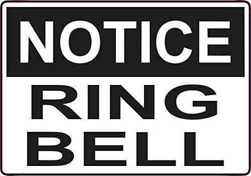 Bell Plaque (DKISEE Aluminum Plaque Ring Bell Durable Rust Proof Aluminum Sign Warning Sign Aluminum Metal Sign 12