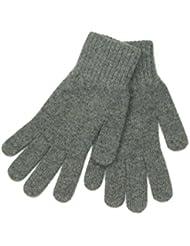 Lovarzi Grau Wollehandschuhe für Frauen - Weich und warm Damenhandschuhe für Winter