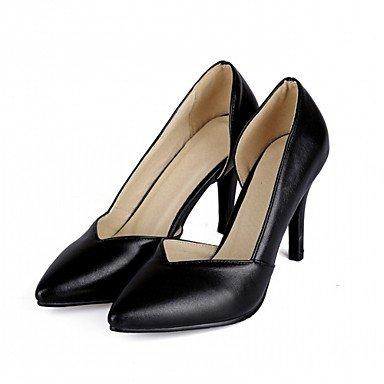 Talloni delle donne Primavera Autunno Dress Comfort in similpelle ufficio & carriera Stiletto Heel Casual Nero Viola Rosso Bianco Purple