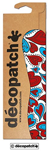 Clairefontaine Decopatch Papier No. 567 (rot blau Herzen, 395 x 298 mm) 3er Pack