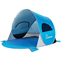 WolfWise Tienda de Campaña Para Playa UPF 50+ Pop Up Instantáneo,Azul
