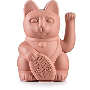 Donkey Products – Lucky Cat Pink – pinke Winkekatze | Japanische Deko-Katze in stylischem matt-Farbton 15cm hoch