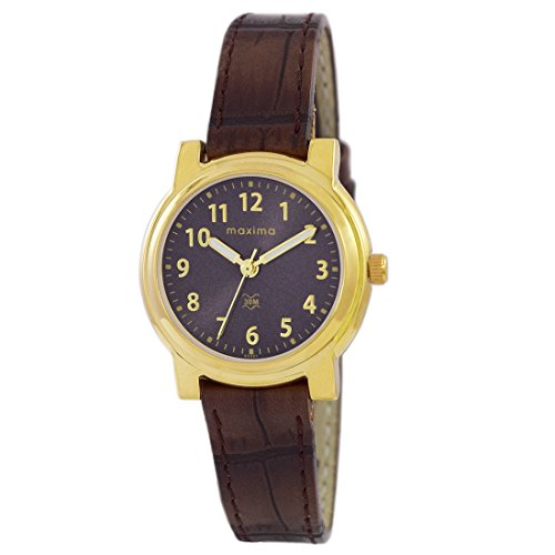 Maxima Analog Brown Dial Women's Watch - O-45001LMLY