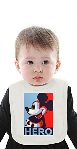 Mickey Mouse Artwork Organic Baby Bib With Ties Medium