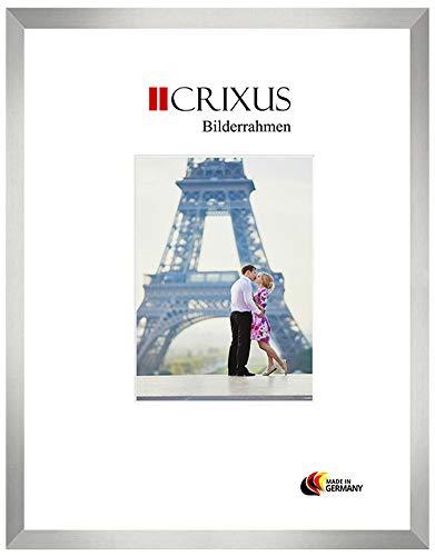 CRIXUS Crixus40M Bilderrahmen für 80 x 120 cm Bilder, Farbe: Alu Silber gebürstet, Holzrahmen MDF mit Acryl-Glas, Rahmen Breite: 40mm, Aussenmaß: 85,6 x 125,6 cm