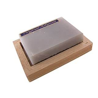 Remos sharpening stone hard Arkansas 60 x 40 mm in wooden box 80x57 mm