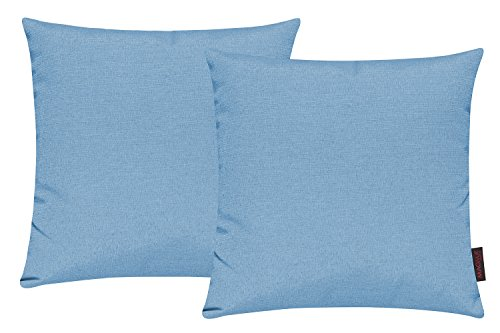 Fino Kissenhülle ca. 40 x 40 cm hochwertig & knitterarm Farbe 32 Türkis (2er Set) (Kissenbezug 32)
