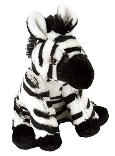 Wild republic zebra, cuddlekins mini coccolone peluche, regali per bambini 20 cm, multicolore, 10853