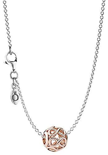 Pandora Silber-Halskette mit Anhänger Unendlichkeit Rosé 08340