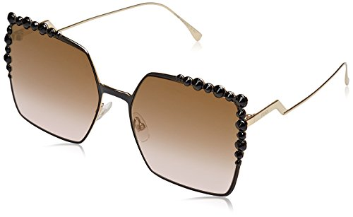 Fendi ff 0259/s 53 2o5, occhiali da sole donna, nero (black 2/brw rose sf fls), 60