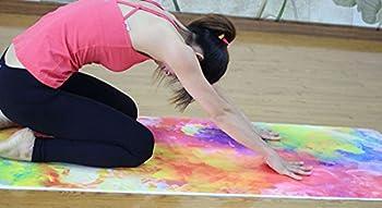 Dicke Rutschfeste Yoga Handtücher, Rutschfest Saugfähig Und Hitzebeständig Doxungo Premium Yogatuch, Yoga Towel Mit Dem Verschiedenen Und Schönen Druck (P) 2