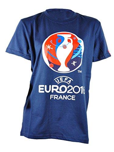 229481c61e286 Intersport Children's T-Shirt with Large Logo UEFA Euro 2016 Navy blue navy  Size:140 (EU)