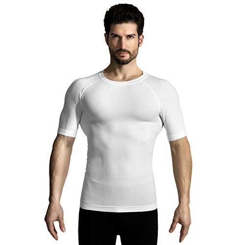 +MD Camiseta compresión Ligera Adelgazar Hombre Camiseta